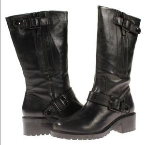 Steve Madden Deona Leather Buckle Moto Boots 7.5M